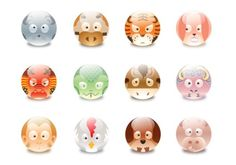 Zhenvision - Zodiac Game #zodiac #ball #icon #chinese #animals #cute #glassy #mac