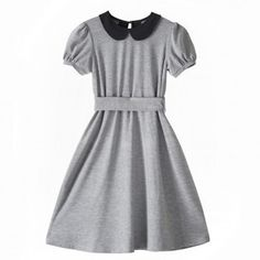 SUKIENKA z kolnierzykiem | SHOWROOM #paris #collar #col #classic #claudine #fashion #dress #grey