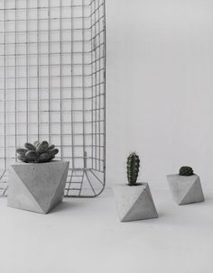 octahedron concrete planter by frauklarer #interior #concrete #austria #styling #frauklarer #design #decor #planter #succulent #home #pottery