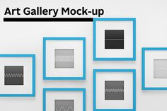 Art Gallery Mock-up ~ Product Mockups #mock-up #frame #gallery #mock #showcase #photo #minimalism #clean #exhibition #wave #wall #up #sound #art #painting #blue