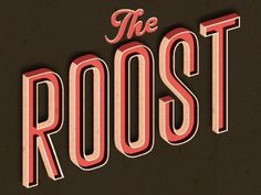 Dribbble - Rule The Roost by Alex Perez #type #illustration #typography