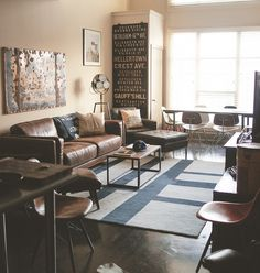 heck house via www.mr-cup.com #interior #vintage #leather