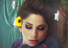 Elsa Maria #water #sleeping #makeup #flower #fashion