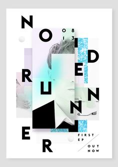 Node Runner Poster by Alain Vonck #graphic design #typography #poster #gig poster #artist poster