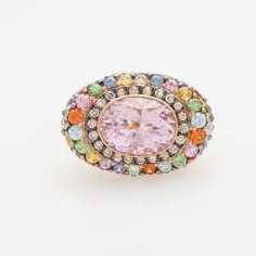 Ladies ring set with a kunzite