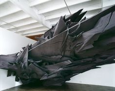 Schatten28 #wood #sculpture #sonja vordermaier #black #aluminium #schatten 28 #basotect