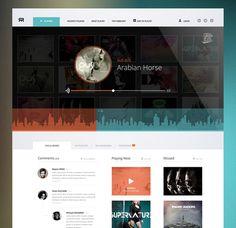 Online Radio #website #layout #web