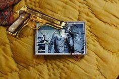 photo #gun #yellow #glass #golden #broken #sp