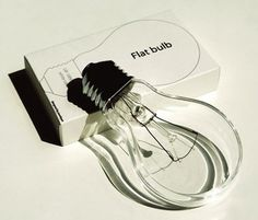 flat light bulb, design, lighting, interiors | Curatedmag.com #flat #bulb #lighting #light #package