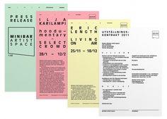 Minibar Artist Space < New : Martin Martonen #identity #stationary