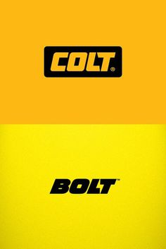 Typeverything.com   Logo wars.Colt logotype by Yana Makarevich. VS Bolt logotype by Fontfabric.