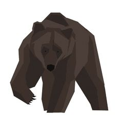 Mr Grizzly #grizzly #vector #illustration #gif #animal