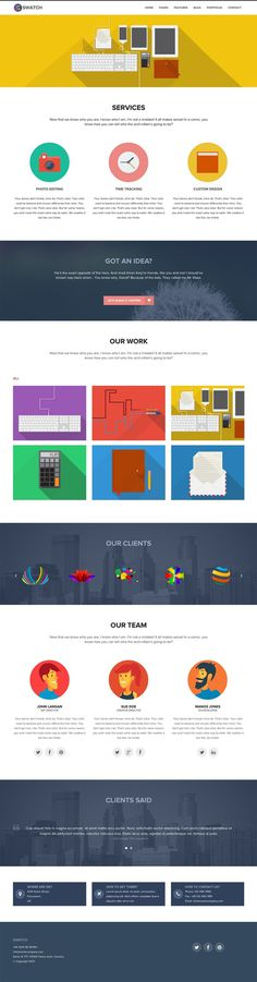 Swatch Flat Responsive Multi Purpose WP Theme #illustration #flat #ui