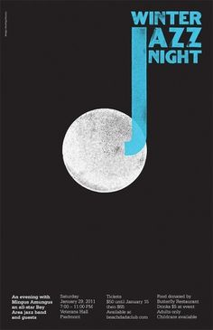 Dowling | Duncan – Winter Jazz Night #graphic design #poster