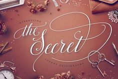 TheSecret: Luxury Calligraphy Script