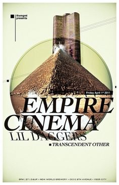 All sizes | Empire Cinema Show Poster | Flickr - Photo Sharing! #design #empire #pyramids #cinema #posters #music