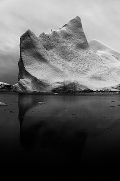CJWHO ™ (White Ice on Black by Jan Erik Waider A...) #ocean #white #greenland #black #landscape #glacier #photography #and