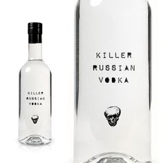 Killer Russian Vodka : TACN Studio #canada #packaging #vancouver #alcohol #minimal #vodka #russia #skull #typography