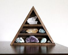 RESERVED Stone Set and Triangle Wood by TheHauntedHollowTree #love