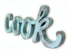OldNewAgain #inspiration #turquoise #wood #cook #art #decoration #typography
