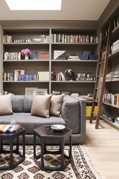 study | simo design #sofa #living #books #library #shelf