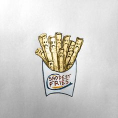 What I hear when thinking of Burger King's new 'Satisfries' #burger #illustration #satisfries #fries #drawing #king