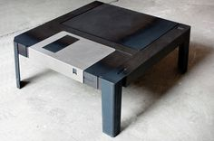 floppy disk table by axel van exel + marian neulant #floppy #furniture #disk