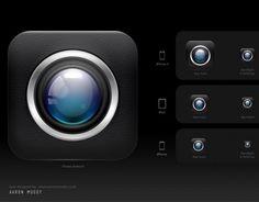 Cam App iPhone Icon PSD