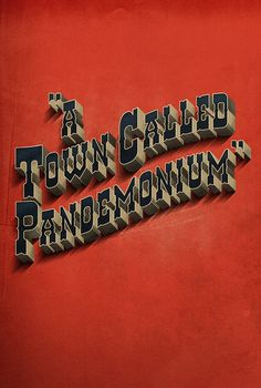 Beautiful type, full shot: Adam Hill #pandemonium
