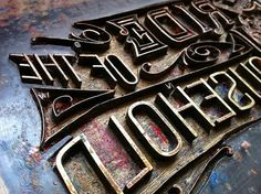 Typography / Ornate letterpress, type, lettering