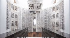 United Nations project babel of the millennium #scripts #installation #museum #design #hair #nations #art #typography