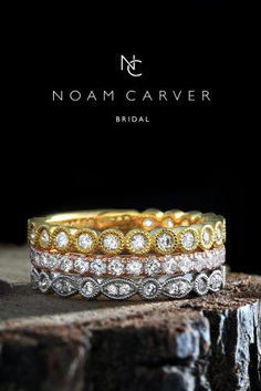 Noam Carver engagement rings are exactly what you are looking for! Noam Carver is a Canadian award-winning sculptor, designer, and goldsmith.