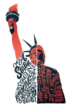 Galileu #type #hand #illustration #statue of liberty