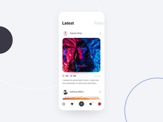 Social Network App Design by Stan Nevedomsky