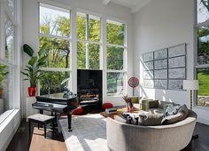 Modern Three-Storey Home With a View in Cincinnati, Ohio #interior #modern #design #living #room