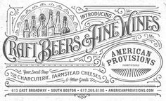 AMERICAN PROVISIONS #lettering