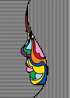 FFFFOUND! | GYM CLASS MAGAZINE #stripes #illustration #colors #girl