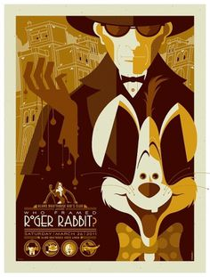 mondo: roger rabbit var by *strongstuff #type #vintage #ilustration