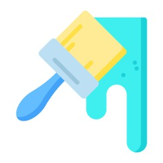 See more icon inspiration related to paint, brush, art, color, art and design, Tools and utensils, edit tools, paint brush, colour, artist, arts and painting on Flaticon.