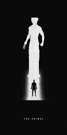 Superheroes Past/Present Series Khoa Ho #white #black #wolverine #poster #and