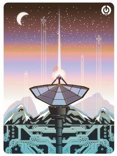 http://solo71.tumblr.com/ #poster #vector #science fiction #robots