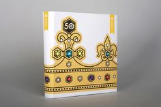 #BOOK COVER, #D&AD, #2012, #CROWN, #YELLOW, #JEWEL