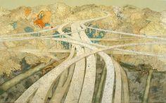 Matthew Cusick : Paintings & Collage : Map Works #matt #collage #maps #cusick