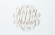 SB_HolidayCard_01 #holidays #happy #lettering #script