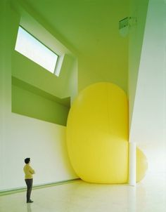 The Supermarket #yellow #blob #sculpture