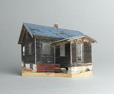 brokenhouses-11 #sculpture #house #art #broken #miniature