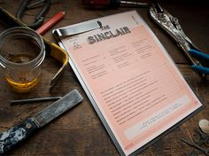 The Sinclair Lunch Menu