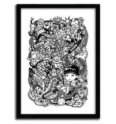 Doodle Pens by Lei Melendres #print #art