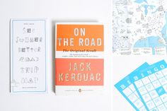 """""""On The Road"""" by Jack Kerouac book cover"""