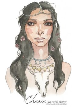 Inspiration for artists from Wildfox Couture - I LOVE WILDFOX #wildfox #illustration #painting #fashion #cherie #watercolour